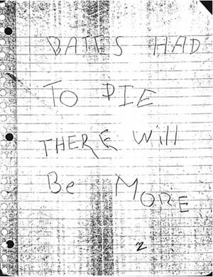 bates had to die letter